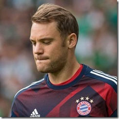 Manuel Neuer Natural Brushed Back Hair