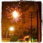 #Fireworks over #ParamountStudios coming from #HollywoodForeverCemetery.