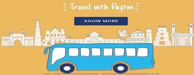 Paytm - Flat 50% Cashback Upto Rs.150 on Bus Tickets Booking