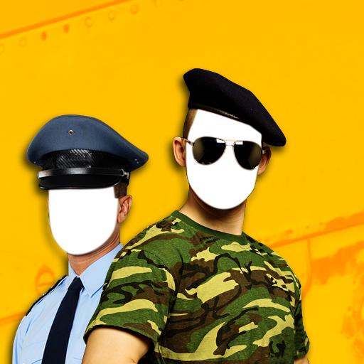 警察和军队的照片蒙太奇 攝影 App LOGO-硬是要APP