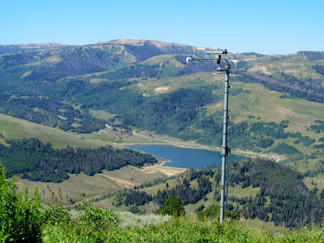 Weather station and Miller Flat Reservoir