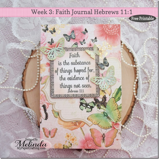 Faith Journal Hebrews 11 Art Page Martha Stewart Butterfly Punch
