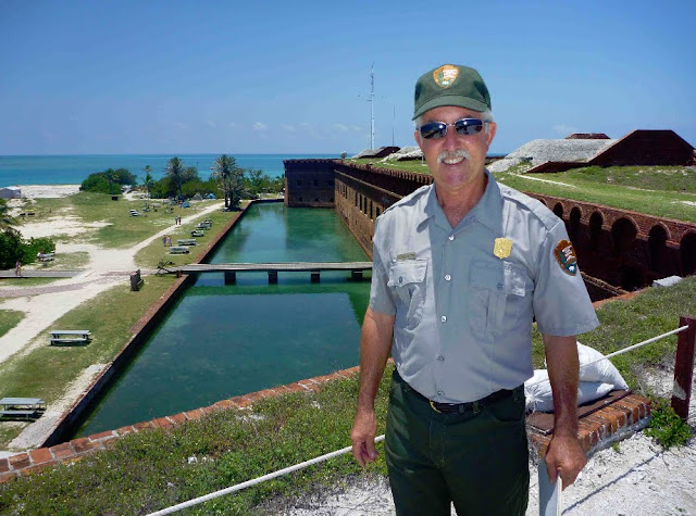 Mike Jester, facility manager for Everglades and Dry Tortugas National Parks, at Dry Tortugas. Lassoing the Sun: A Year in America's National Parks