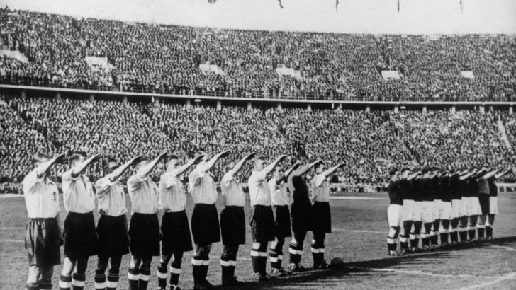 england nazi salute