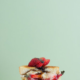 Strawberry, Balsamic, Basil & Brie Grilled Cheese.