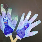 Peacock Stick Puppet Activity (Sr.KG.) 10-12-2014
