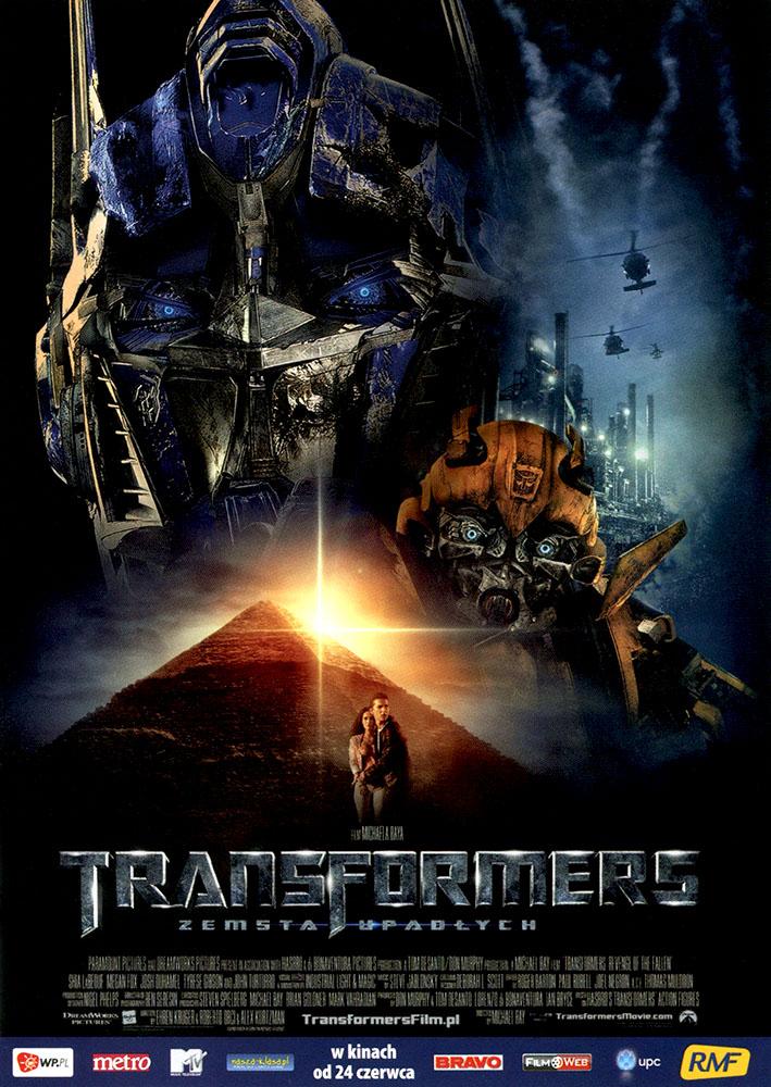 Ulotka filmu 'Transformers: Zemsta Upadłych (przód)'