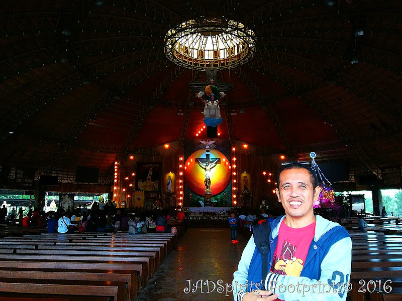 Jonjie inside the Padre Pio Shrine on his 49th birthday