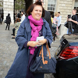 WWW.ENTSIMAGES.COM -    Suzy Menkes  at           LFW - Somerset House Courtyard Sunday September 14th 2014                                              Photo Mobis Photos/OIC 0203 174 1069