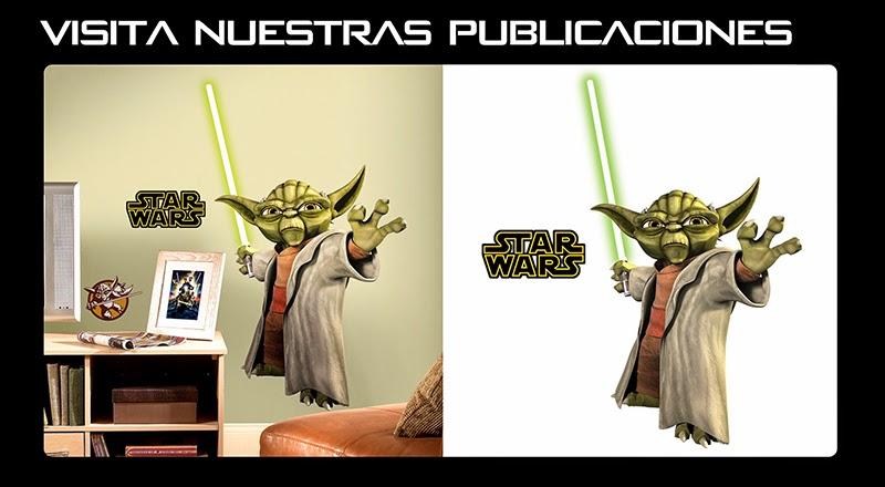 Yoda Sticker Adhesivo Gigante Arteygraficadigital