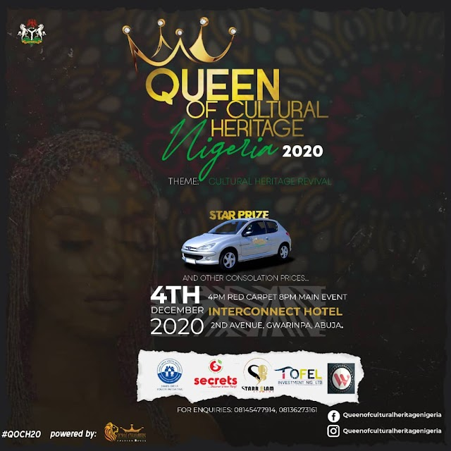 Queen of cultural heritage Nigeria 2020