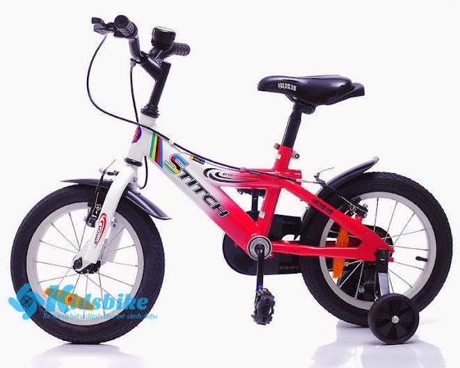 Xe đạp Stitch 904 màu trắng đỏ