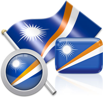 Marshallese flag icons pictures collection