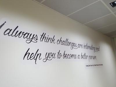 Inspirational quotes at BIG Work Singapore.