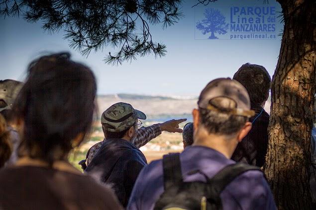 Explicaciones a vista de valle y a pie del observatorio avanzado nº 2, obra de hormigón armado con zanjas de acceso y trincheras.