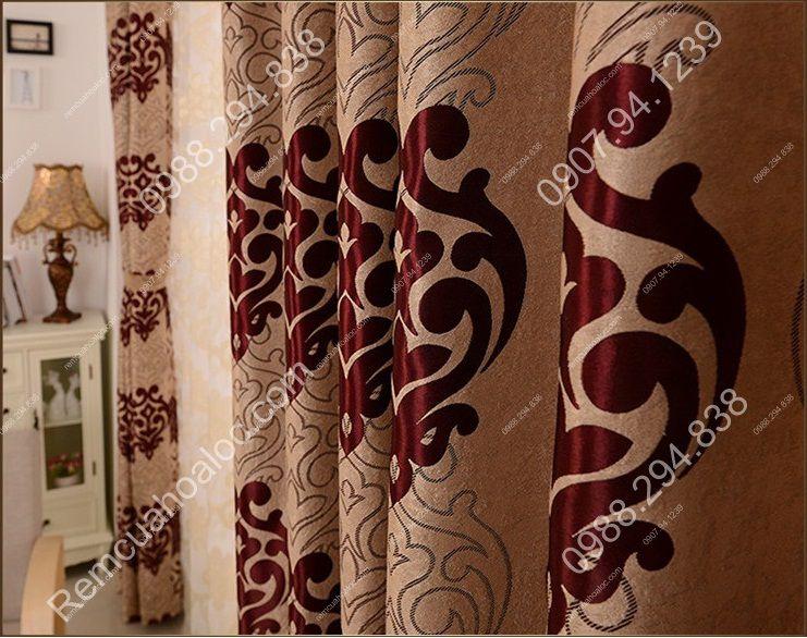Rèm cửa rẻ đẹp hà nội họa tiết đông phương 8
