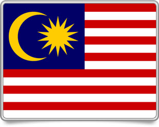 Malaysian framed flag icons with box shadow