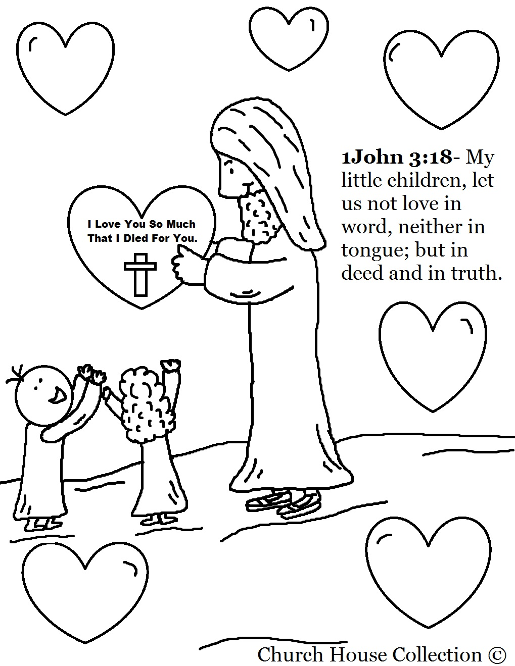 Free Printable Christian Coloring Pages for Kids - Best Coloring ... | 1319x1019