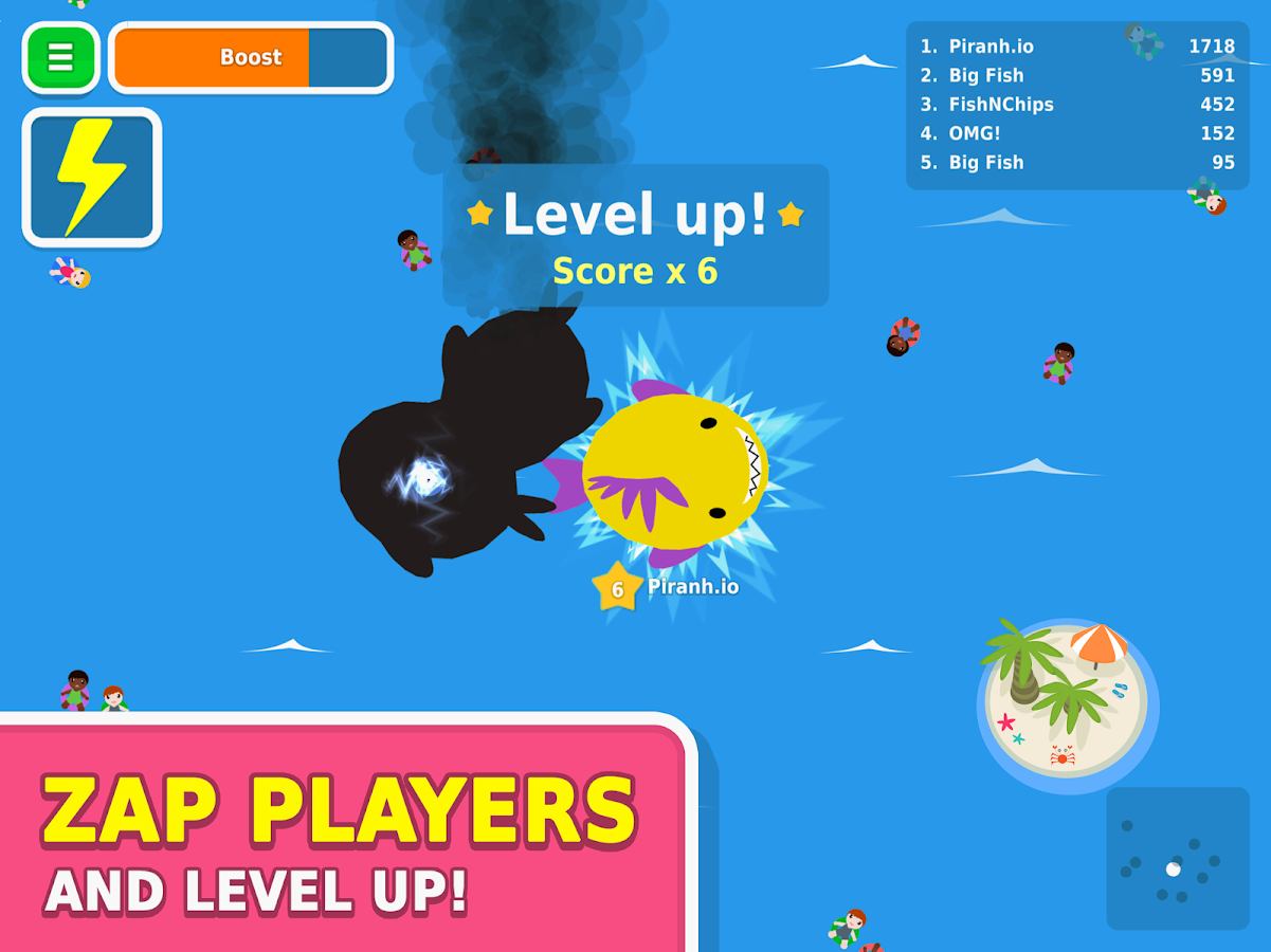 Piranh.io- screenshot