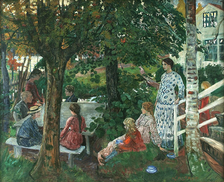 Nikolai Astrup - Birthday in the Garden