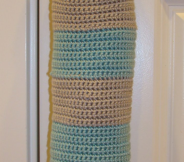 Crafts By Starlight: Striped Grocery Bag Holder - Crochet