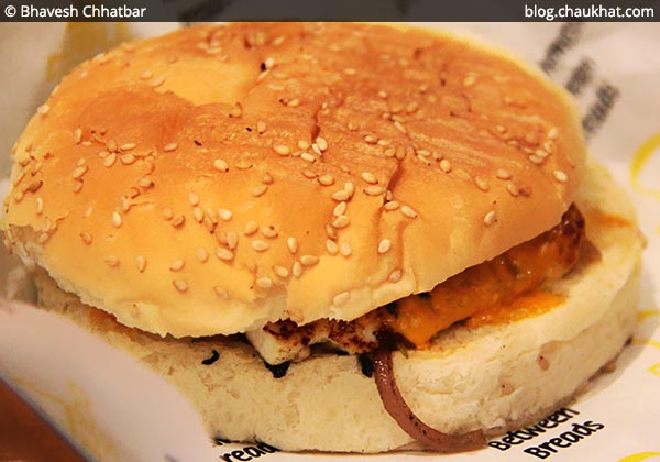 Veg Mexican Wave Burger at Double Roti, Viman Nagar, Pune