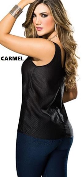 Blusa manga sisa con corte en el centro de la espalda