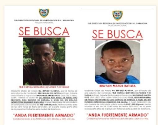 Policía identifica a los supuestos responsables de la muerte de joven en la playa San Rafael de Barahona,