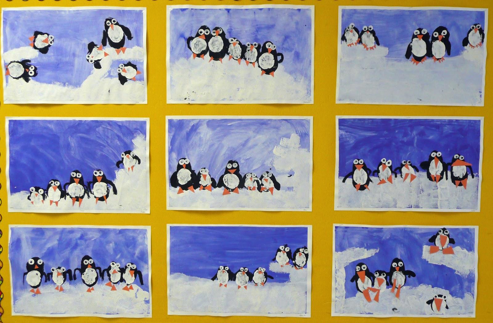 winter arts crafts 1st grade