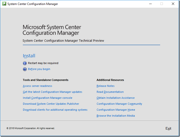 How to Install Configuration Manager 2016 (SCCM / ConfigMgr