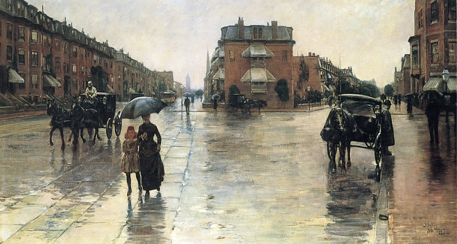 Childe Hassam - Rainy Day, Boston