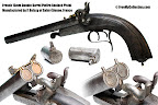 French 15mm Pinfire Auxiliary Percussion Adapter and Pistol Manufactured by P. Boissy of Saint-Etienne, France