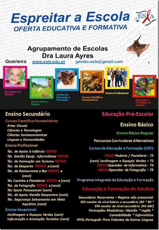 oferta formativa do Agrupamento de Escolas Drª Laura Ayres Quarteira