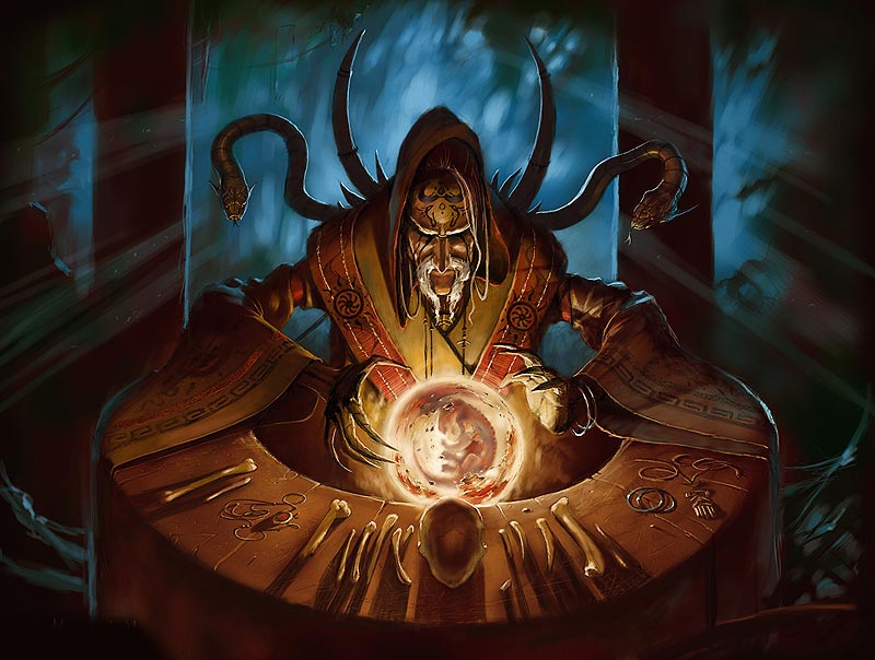 Mage With Snake, Black Magic