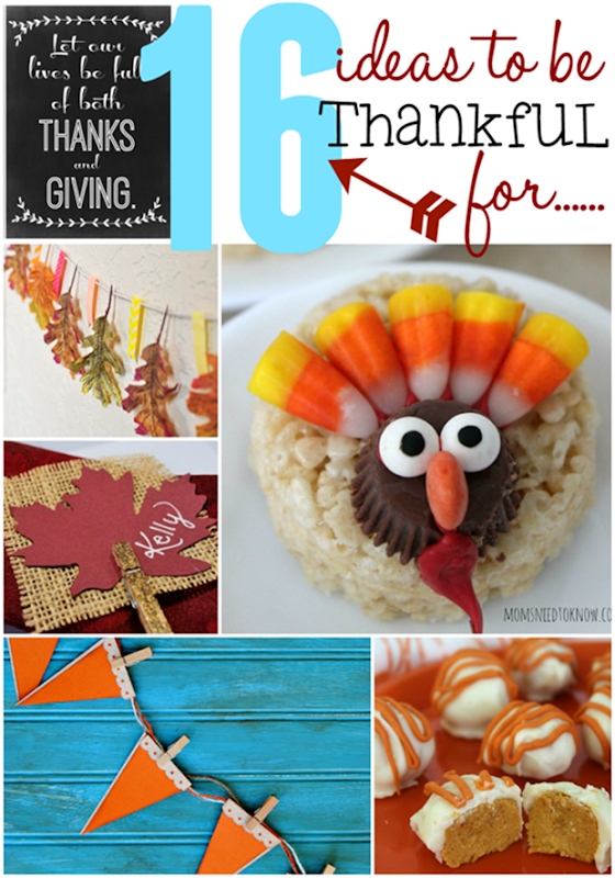 16 Ideas to Be Thankful For #Thanksgiving #linkparty #features at GingerSnapCrafts.com_thumb[1]