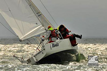 J/80 one-design sailboat- sailing at St Pete NOOD Regatta