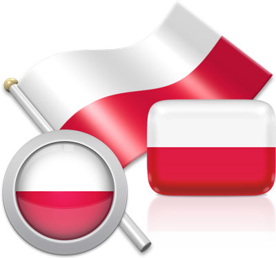 Polish flag icons pictures collection