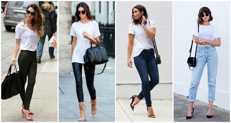 Resultado de imagem para look estilo camiseta branca