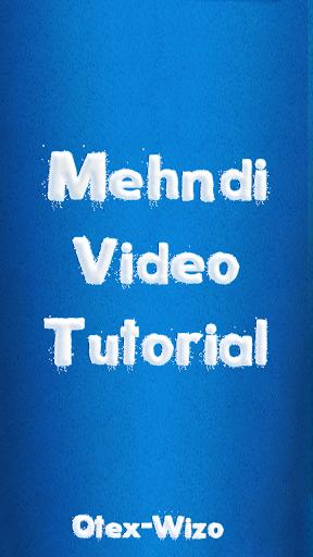 Mehndi Design Video Tutorial