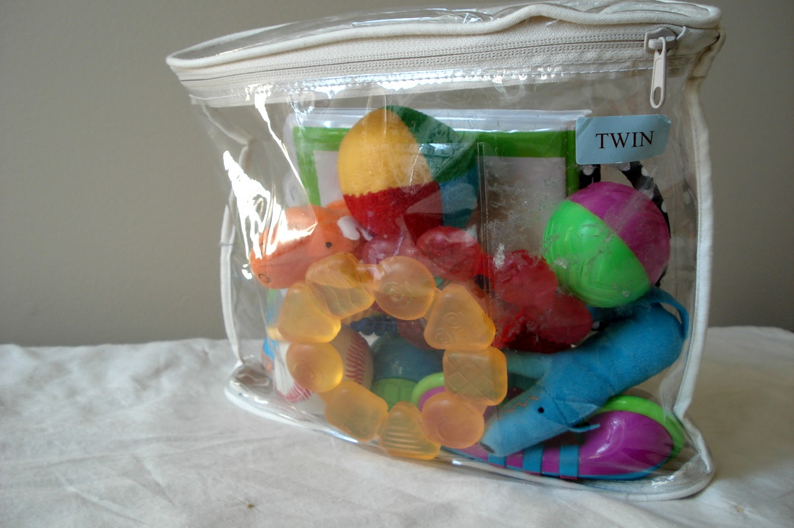 Repurposed Sheet And Blanket Bags Into Toy Storage