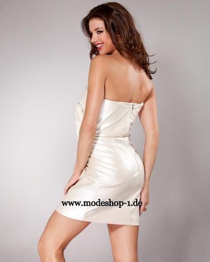 ... Knielang mit Bolero in Schwarz Silber, Abendkleid 2012 Kurz in Weiß