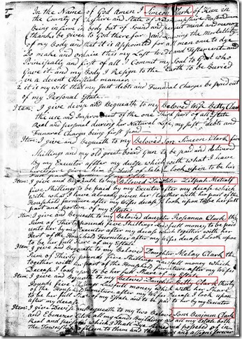 CLARK_Simeon Deacon_probate & last will_New Hampshire_pg 1-annotated