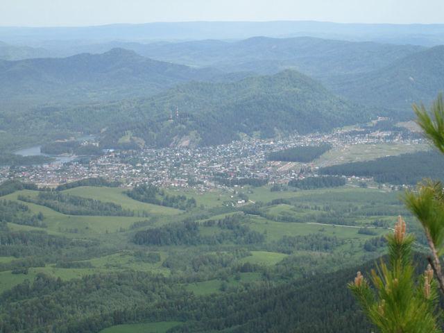 Панорама Турочака на Алтае