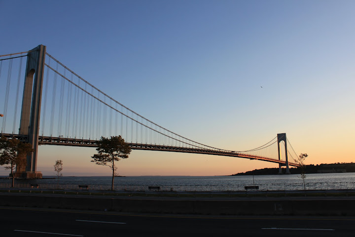 Verrazano-Narrows Bridge looking tward Ft. Wadsworth