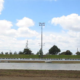 Home of speedway racing in Auckland, Waikaraka Family Speedway. Painting of the track wall 0.5 Km in length and refurbishment of the signage.