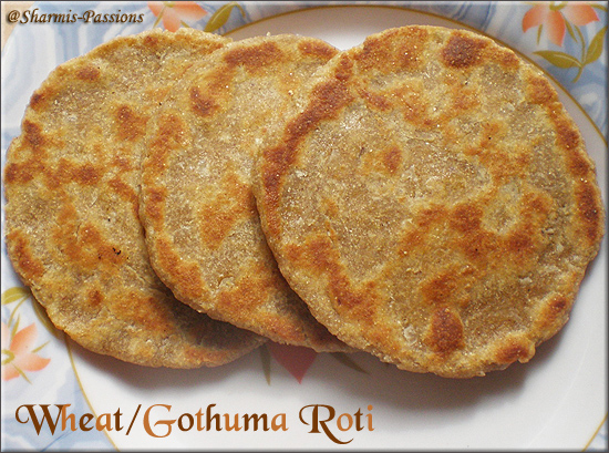 Wheat/Gothuma Sweet Roti