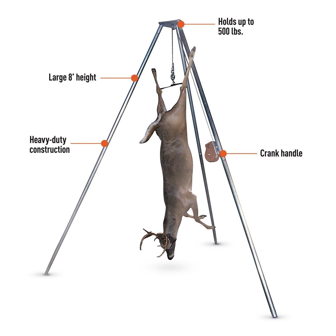 Details about  /Gambrel Game Hoist Deer Pig Bear Elk Hanger Allen Takedown Collapsible 500 lbs