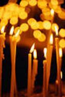 Κεριά που συμβολίζουν τις λαμπάδες