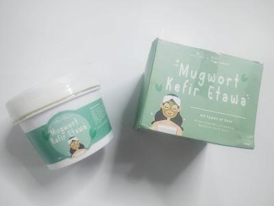 Kemasan masker Mugwort Kefir Etawa
