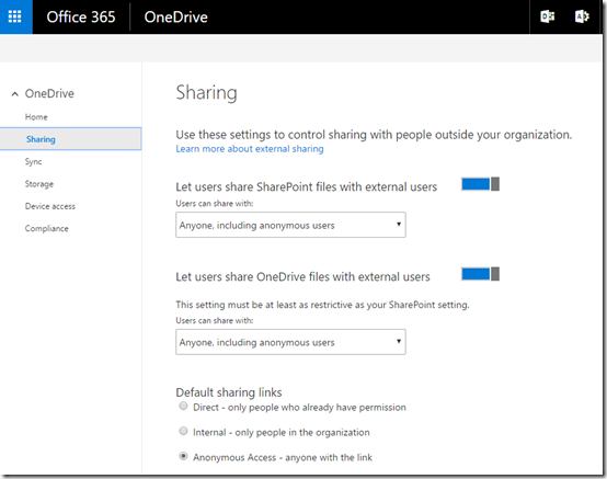 OneDrive for Business admin console rolling out – CIAOPS